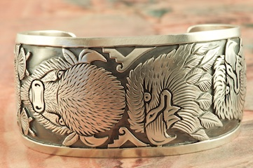 Sterling Silver Eagle And Buffalo