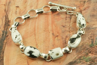 White Buffalo Turquoise Sterling Silver
