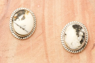 Native American Jewelry White Buffalo Turquoise Earrings Treasures Of The Southwest