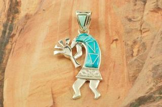 Calvin begay kokopelli pendant treasures of the southwest calvin begay kokopelli pendant aloadofball Choice Image