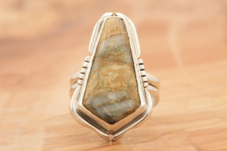 Mammoth Tooth Sterling Silver Ring