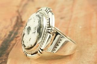White Buffalo Turquiose Ring
