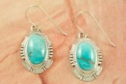Apache Blue Turquoise Earrings
