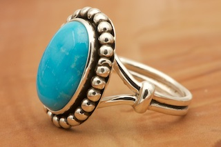 Sleeping Beauty Turquoise and Sterling Silver Ring