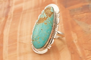 finished as a ring to size or as a pendant 8 mine turquoise Turquoise ring in sterling silver No you choose